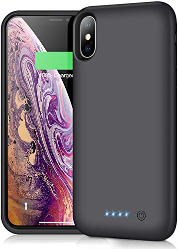 Battery Case for iPhone Xs Max Newest【7800mAh】 Protective Rechargeable Charging Case for iPhone Xs Max External Battery Pack for Apple iPhone Xs Max Portable Charger Case [ 6.5 inch ]-Black