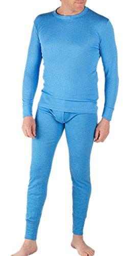 Thermounterwäsche für Herren von Socks Uwear mit langärmeligem Oberteil & langer Unterhose Gr. Large, blau