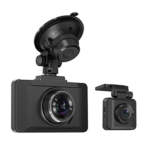 "TaoTronics Dual Dash Cams Sony Sensor, 1080P FHD Front and Rear Dash Cam with Night Version, 3"" LCD Car Camera Recorder, 140° Wide Angle, G-Sensor, Wdr, Parking Mode"