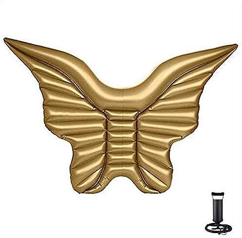 Gold Angel Wings Floating Ring Wasser Kissen Floating Bett Aufblasbare, Aufblasbare Schwimmen Floating Party, Pool Spielzeug für Erwachsene und Kinder