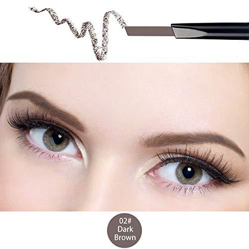 ANIFER Augenbrauenstift Dunkelbraun Wasserdichtes, automatisch einziehbares, langlebiges Make-up mit zwei Enden (dunkelbraun/Dark Brown # 2)