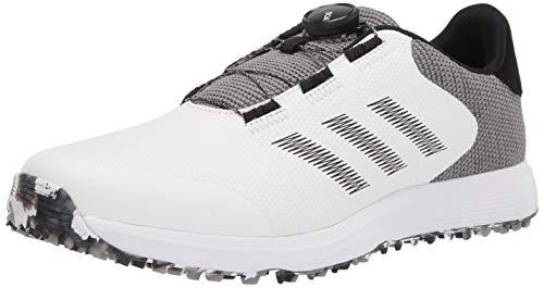 adidas mens Golf Shoe, White/Black/Grey, 10 US
