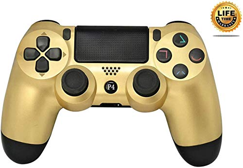 PS4 Controller Wireless Bluetooth Gamepad for Sony Playstation 4 with USB Cable Compatible with Windows PC & Android iOS?Upgraded Version? Gold