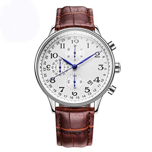 ZTT Top Luxusmarken-Mann-Geschäft Rose Uhren Chronograph Wasserdicht Quarz-Analoge Armbanduhr Male Uhr,B