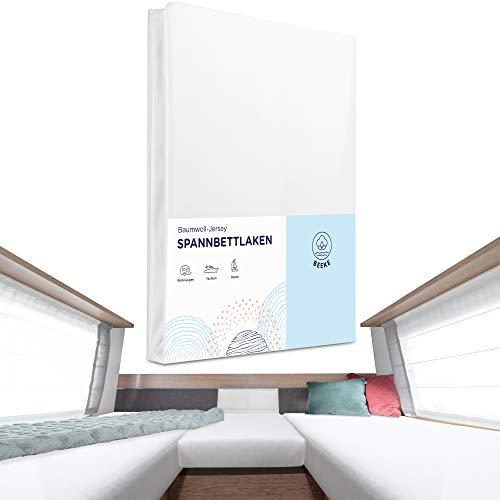 Beeke Premium Spannbettlaken Wohnmobil [3 teilig] - Multi-Stretch Bettlaken für...