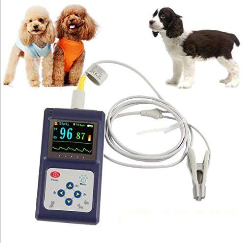 LXT PANDA Veterinär-Pulsoximeter mit Ohr/Zunge, tragbare Veterinär-Vitalfunktionen Überwachen Sie die Pulsoximeter-Temperatur für Kleintiere mit Alarm zur Stichprobenprüfung.