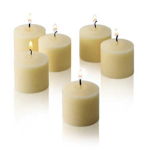 French Vanilla Scented Candles - Bulk Set of 72 Scented Votive Candles - 10 Hour Burn Time - Made in The USA