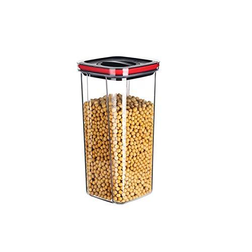 YUMEIGE Caja de almacenamiento de cosméticos Tarro hermético, caja de almacenamiento de grano, frasco de almacenamiento, tarro de almacenamiento de cocina de refrigerador para frijoles, especias y pro