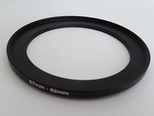 vhbw Step UP Filter-Adapter 67mm-82mm schwarz passend für Kamera Agfa, Agfaphoto, Canon, Casio, Fujifilm, Kodak, Minolta, Nikon, Olympus