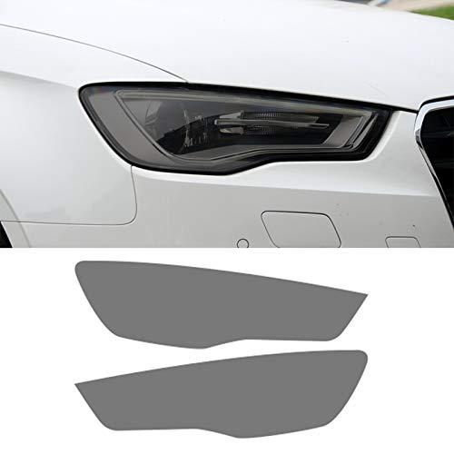 Piaobaige 2 Stück Auto Scheinwerfer Film Vinyl Anti Scratch Transparent Schwarz TPU Aufkleber Für Audi A3 S3 RS3 8V 2013 2020