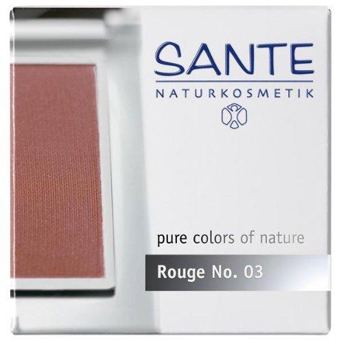SANTE Naturkosmetik Rouge No. 03 silky magnolia, Blush, Natürliche Mineralpigmente, Sanfte Textur, Natural Make-up, Bio-Extrakte, 7g