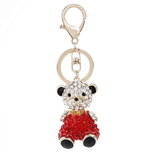 rickie_cao 2021 nuevo llavero de Winnie The Pooh, serie de animales creativos, colgante de coche bonito, llavero de mujer, llavero, baratijas, regalo de moda