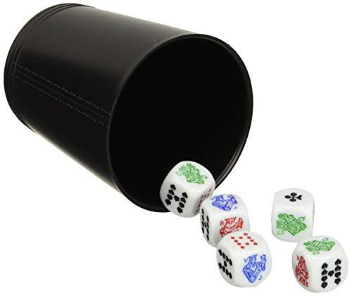 Falomir Cubilete Póker, Juego de Mesa, Clásicos, Multicolor (27930)