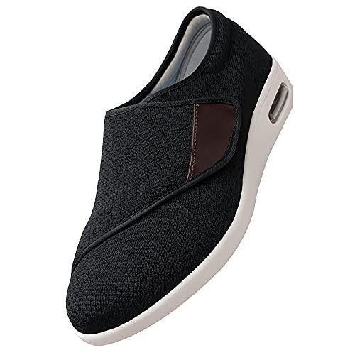 Totalmente lavable, con barra de cierre táctil, zapatilla,Ancho Especial Diabéticos Posoperatorio Ajuste Velcro Hombre Mujer Unisex,E-49