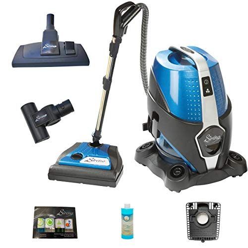 Sirena Bagless Vacuum Cleaner Ultimate Pack - Lightweight Water Filtration Pet Vacuum - Bonus Exclusive Multi-Floor Tool, HEPA Filter and Turbo Brush - Hardwood Floor Sweeper and Pet Hair Cleaner