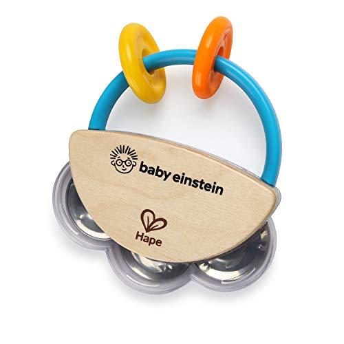 Baby Einstein, Hape Jouet Musical en Bois Tiny Tambourine, à Partir de 3 Mois