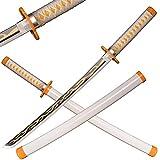 Sword Warrior Espada Demon Slayer 79 cm de madera espada, Katana de madera Anime Japonés, Espada Cosplay