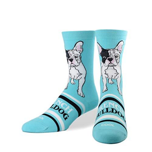 Cool Socks, Women's, Animals, French Bulldog, Crew, Cute Fun Silly Dress