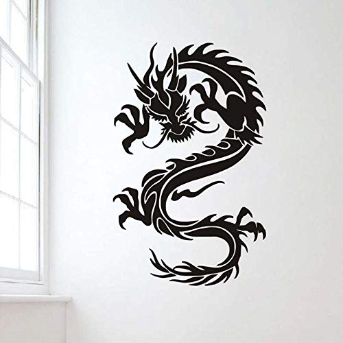 Decors Girlsredchinese Stijl Zodiak Draak Zwart Gesneden Persoonlijkheid Woonkamer Thuis Achtergrond Wanddecoratie Muurstickers Behang