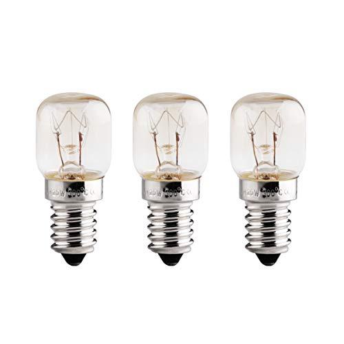 Glühbirnen E14, Backofenlampe E14 25W 300 Grad, 3 Stück Backofen Lampen E14, Glühbirne Für Backofen, 230V