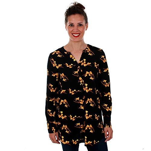 Vero Moda Camisa Mujer S Negro 10201931 VMSAGA LS Tunic Black VIGGA BL