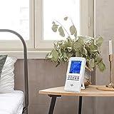 InLoveArts Misuratore di aria misuratore di qualità dell'aria per CO2 formaldeide (HCHO) TVOC AQI PM2.5 Rilevatore di gas d'aria multifunzione PM10 misuratore di CO2 per ufficio domestico