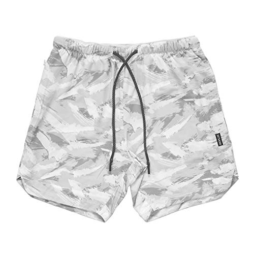CuteRose Men Camo Breathable Plus Size Beach Swimsuit Shorts for Fitness AS2 2XL