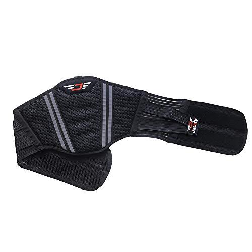 Jaunty Cintura lombare per moto, supporto lombare, supporto posteriore per uomini e donne, misura regolabile con elementi di collegamento e design traspirante, Nero , L