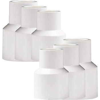 6 piezas Conector adaptador de accesorios de tuber/ía de rosca macho de PVC YOFASEN Conectores de tuber/ía de agua 20 mm 1 pieza Cinta de sellado de tuber/ía de agua