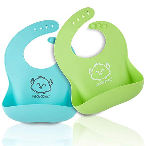 KeaBabies Silicone Baby Bibs