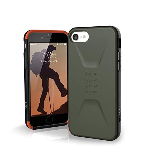 Urban Armor Gear Civilian Funda para Apple iPhone SE (2020) / 8 / 7 / 6S Cubierta protectora (Compatible con la carga inalámbrica, Resistente a los choques, Parachoques ultra delgado) - Verde oliva