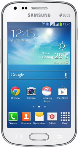 Samsung Galaxy S Duos 2 Smartphone (10,16 cm (4 Zoll) TFT-Touchscreen, 1,2 GHz Dual-Core-Prozessor, 5 Megapixel Kamera, Android 4.2) weiß