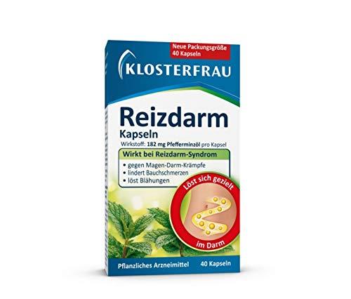 Klosterfrau Reizdarm Kapseln | wirkt bei Reizdarm-Syndrom | gegen Magen-Darm-Krämpfe | lindert Bauchschmerzen | löst Blähungen | 40 Stück
