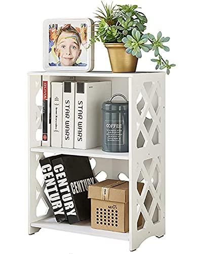 Mesa de café pequeña de dos niveles, mini estantería, estante expositor, armario de almacenamiento de baño, estantes para libros y...