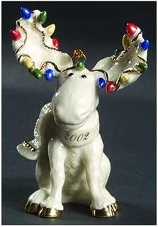 Lenox Moose Merrimint Ornament 2002 Colletible