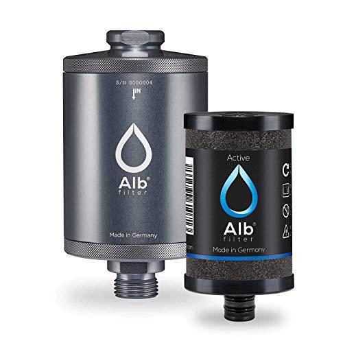 Alb Filter® Active Trinkwasser-Filter reduziert Schadstoffe, Schwermetalle, Mikro-Plastik. Made in Germany Titan