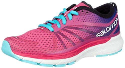 SALOMON Damen Sonic Ra Pro W Traillaufschuhe, Pink (Pink Yarrow/Surf The Web/Blue Curac 000), 41 1/3 EU