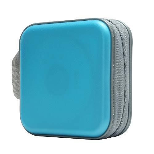 Bivisen CD Case, DVDs Wallet Holder, CD/DVD Case Wallet 40 Discs Heavy Duty Bag Binder Storage Booklet Album (Sky Blue)