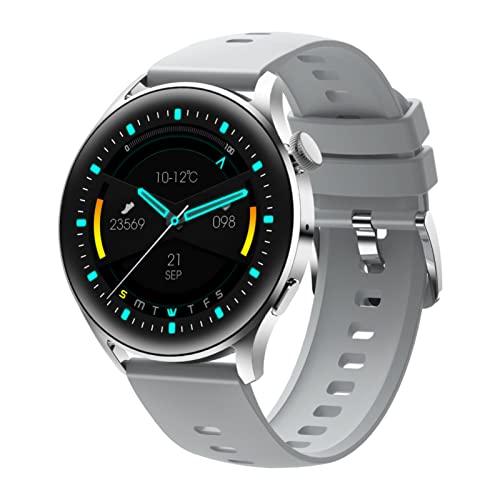 Reloj inteligente para teléfonos Android, compatible con Samsung, iPhone, resistente al agua, pantalla táctil, monitor de sueño, podómetro, para hombres y mujeres, pago fuera de línea