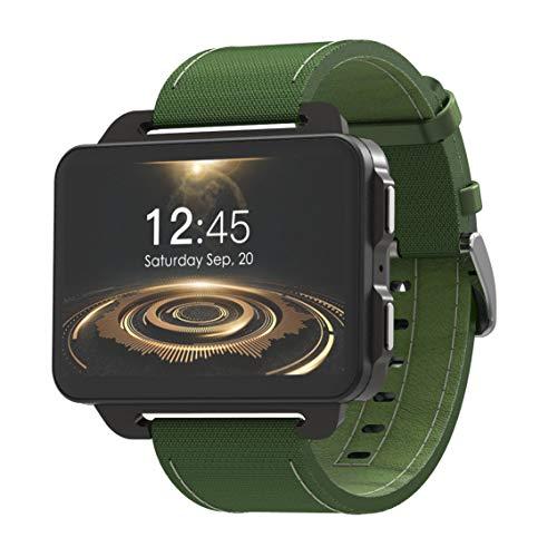 Reloj inteligente , Lemfo Lem4 Pro 2.2 pulgadas Pantalla grande Reloj inteligente 3G con 1Gb 16Gb 1200Mh para monitor de frecuencia cardíaca, modo deportivo múltiple, para hombres Mujeres,Green