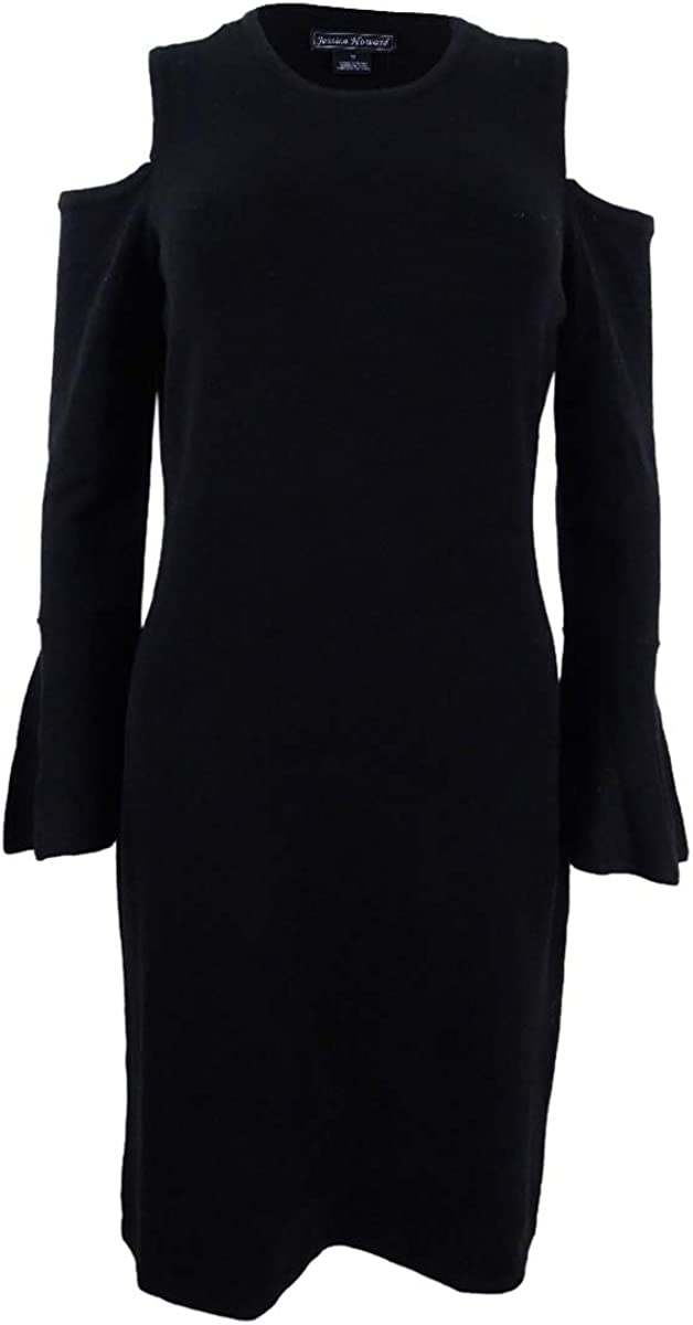 Jessica Howard Women's Cold-Shoulder Sweater Dress