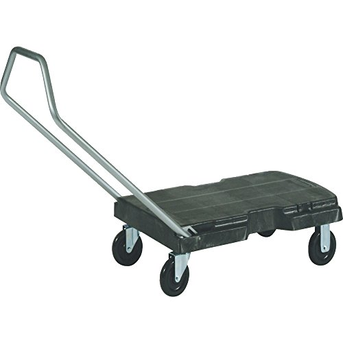Rubbermaid Commercial Products Triple Trolley Folding Handle Dolly/Cart/Platform Truck with wheels, 500 lbs Capacity, for Moving/Warehouse/Office...
