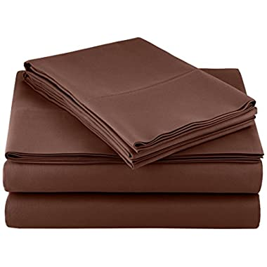 AmazonBasics Microfiber Sheet Set - King, Chocolate