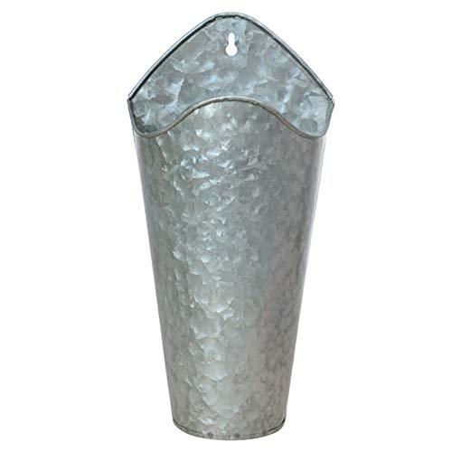 mlloaayo 30 * 15 * 9cm Vaso da Fiori da Appendere A Parete Vasi da Fiori per Esterno per Interni Fioriera Rustica da Parete in Metallo Giardino Vasi di Casa
