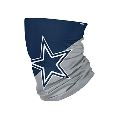NFL FOCO Dallas Cowboys Neck Gaiter, One Size, Big Logo
