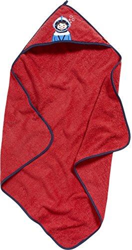 Playshoes Kinder Frottee Kapuzen-Handtuch, praktisches Kapuzentuch für Jungen, mit Taucher-Stickung