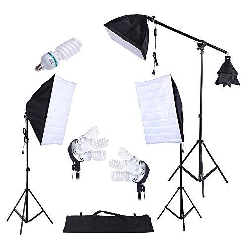 Fotografie Studio Lighting Kit 3 stuks Softbox statief 45W 135W Bulb Sledemodel met Oxford Bag Accessory Equipment Fotografie & grafische vormgeving (Size : Us port)