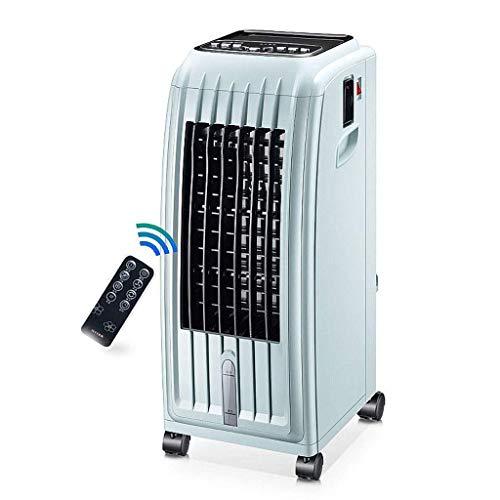 Enfriador de Aire móvil para el hogar con Tanque de Agua de 5L 3 velocidades de Viento de Doble Uso para purificación de Iones Negativos fríos y cálidos