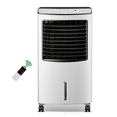 Raffrescatore Evaporativo Portatile Domestico Riscaldamento E Raffreddamento Verticale Due Condizionatore d'Aria 8L Grande Serbatoio d'Acqua 7.5H Cronometraggio con Telecomando 3 velocità 3-Wind Mode