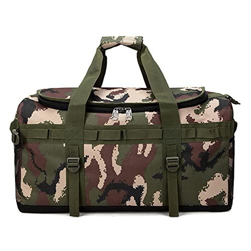 yqs Borsa da Viaggio Bagagli MULTIFOGGIO MULTIFUNCIA 60L Uomo Viaggi Valigia Camouflage Back Pack Large Casual Weekend (Color : Style 1)